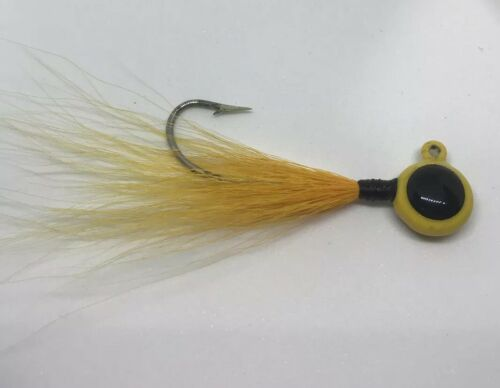 "YOUNGBUCKLURES 1//2oz Big Eye Jig Bucktail """"LOON"" 4//0 Heavy Saltwater Hook"