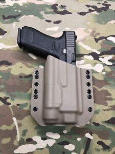 Armor Gray Kydex Light Bearing Holster for Glock 34 GEN5 Streamlight TLR-1