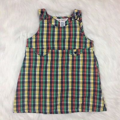 Dresses Girls' Clothing (newborn-5t) Vtg Gymboree Spectator Girls Small 2-3 Plaid Dress Jumper Blue Yellow Red Green Comfortable And Easy To Wear