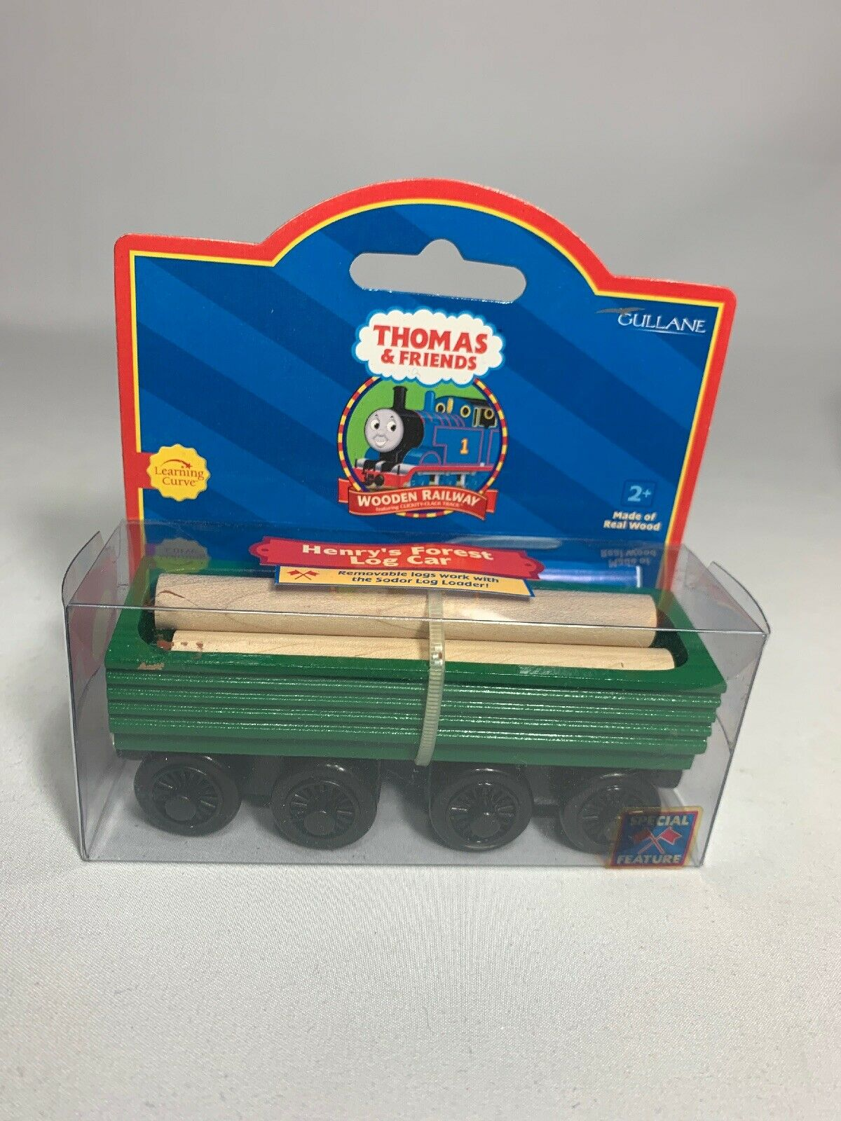 Brand New  Thomas & Friends Henry's Forest Log Car Made With Real Wood  -2001