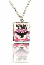 Handmade Miniature Book Locket Necklace - The Hunger Games - Catching Fire