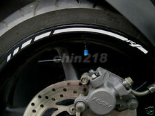 2016 Custom! YAMAHA YZF R1 Wheel Rim Stripe Stickers Decals Tape for both wheel