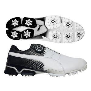 02e8d7908e44fa Puma TitanTour Ignite Disc SE Golf Shoes White White Black NEW 8236 ...