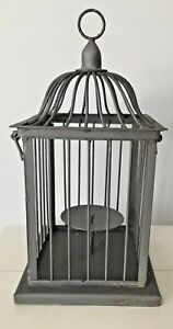 BIRD-CAGE-CANDLE-HOLDER-Rustic-Country-Primitive-Farmhouse-Decor-15-Tall