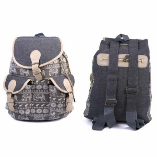 Ladies Girls Large Backpack Rucksack Handbag Fashion School Travel Canvas Bag UK