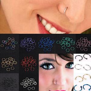 Lots-40PCS-Surgical-Steel-Nose-Ring-Piercing-Lip-Hoop-Ring-Stud-Piercing-Jewelry
