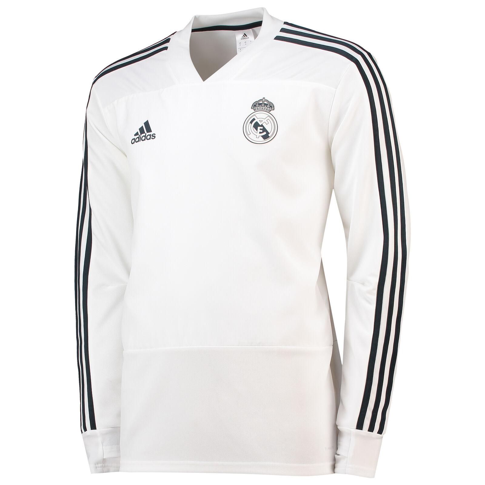 Real Madrid Training Shirt Sport Oberteil Fußball Trikot Weiß Herren Herren Herren adidas 2e1fc7