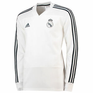 Real Madrid Training Shirt Sport Oberteil Fußball Trikot Weiß Herren adidas