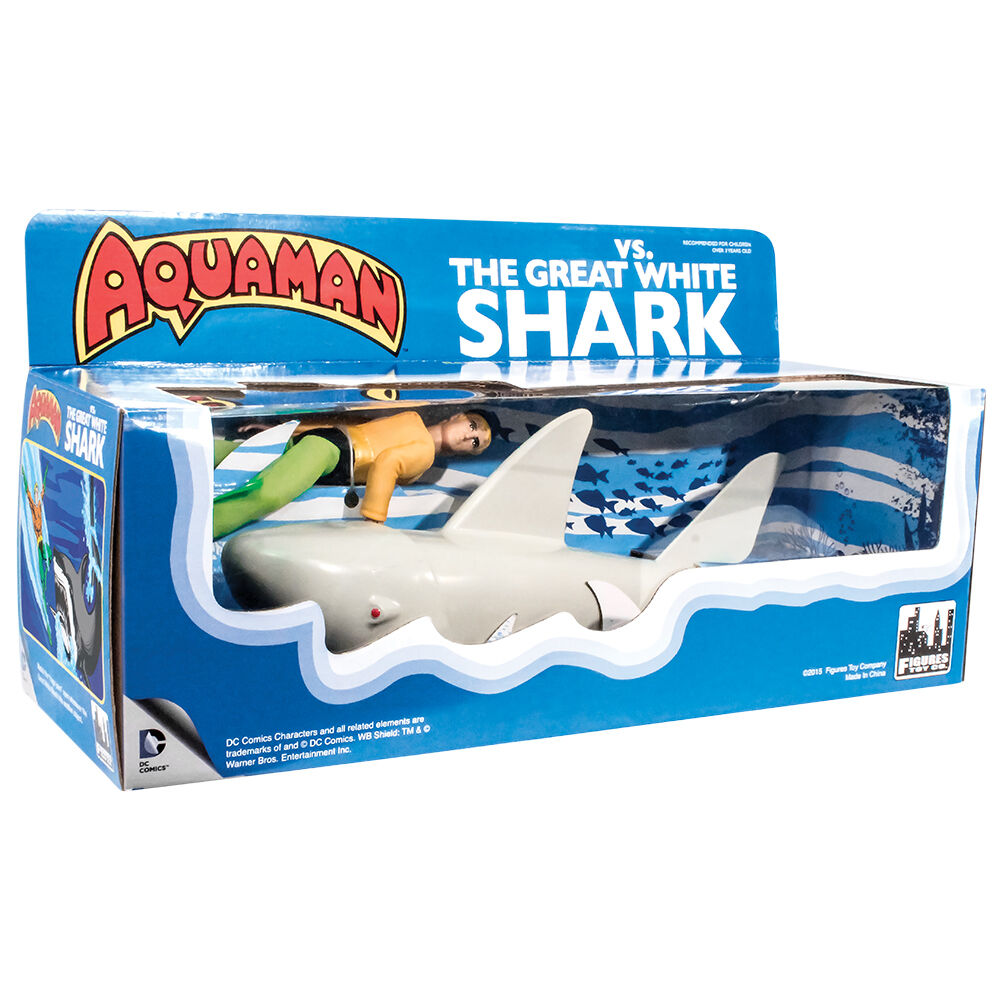 Official DC Comics Aquaman VS. The Great Weiß Shark Retro Playset by FTC