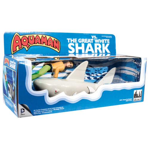 Official DC Comics Aquaman VS The Great White Shark Retro Playset by FTC