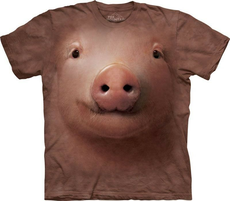 The Mountain Pig Face T Shirt Top Tee Schwein Animal Animal Animal Haus Tier S - 3XL  3218 501   Der neueste Stil    Online Outlet Shop  524286