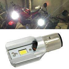 12V BA20D H6 12W LED White Bulb Light For Motorcycle Bike Moped ATV Headlight
