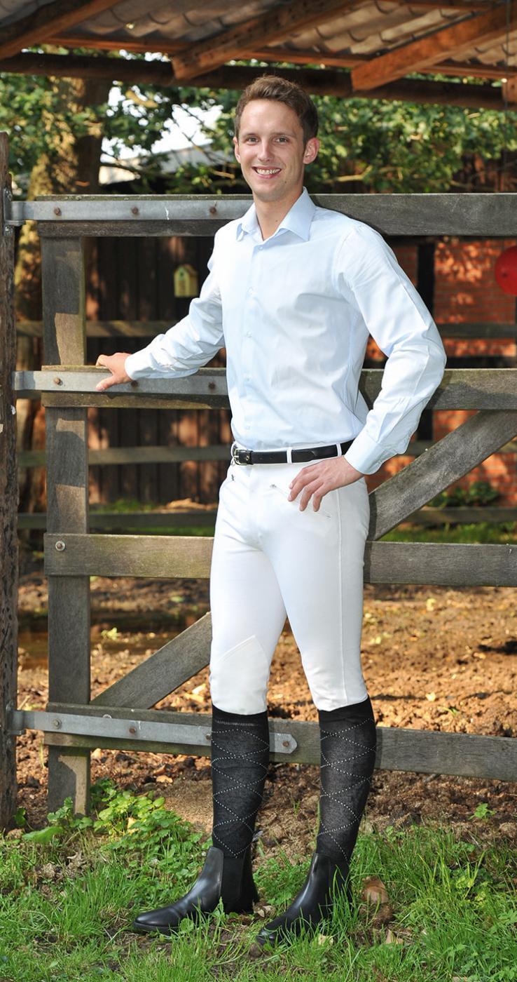 Busse Livingston Hombre Pantalones Montar Competición de Torneo Medias la   perfecto