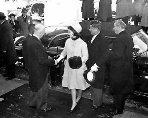 1960 US President DWIGHT EISENHOWER JOHN F KENNEDY JFK Glossy 8x10 Photo Poster