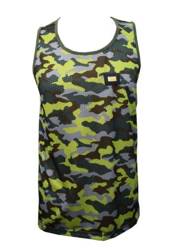 Mens Camouflage Army Mesh Vest Combat Men Tank Top Military Fashion Urban Camo