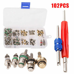 102Pcs-Car-A-C-R12-amp-R134a-Air-conditionne-Valve-Core-Assortment-Remover-Tool-Kit