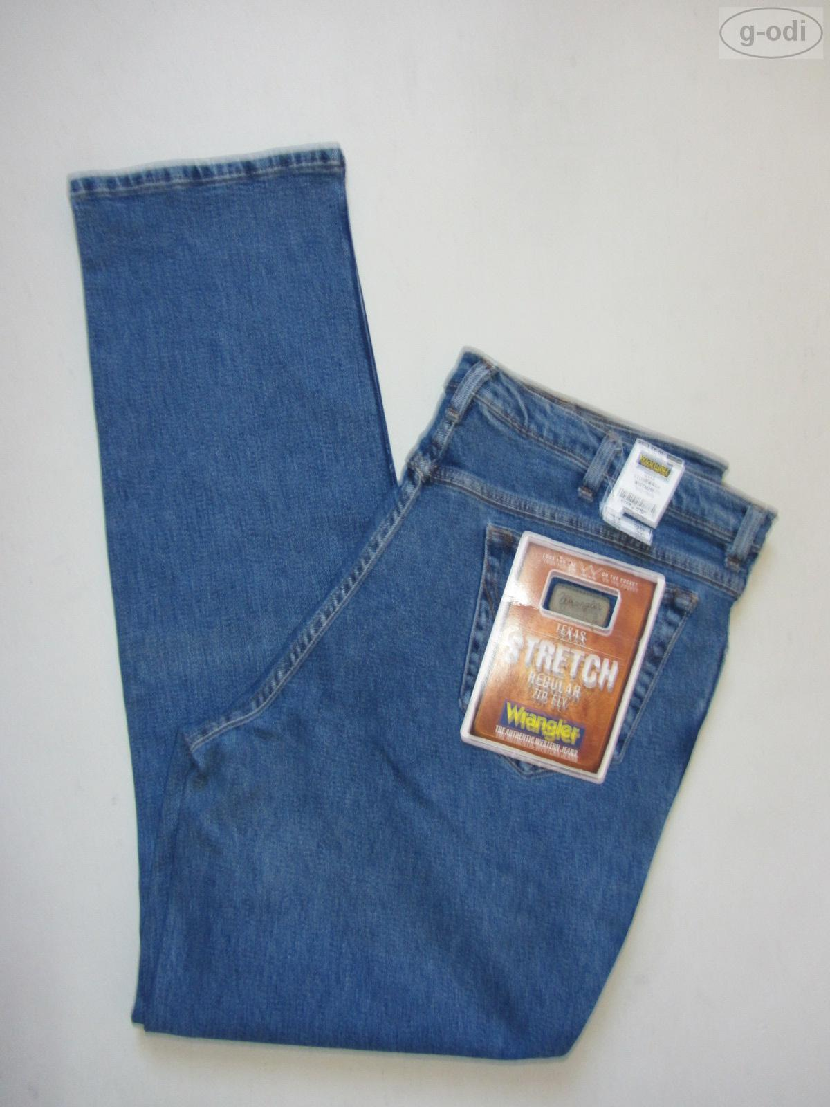 Wrangler TEXAS Stretch Jeans Hose W 42  L 34 NEU   Stonewashed Denim bequem