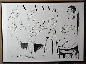 PABLO-PICASSO-1954-GRAVURE-w-COA-CLASSIC-PRINT-amp-UNIQUE-ENGRAVING-VERY-RARE-ART