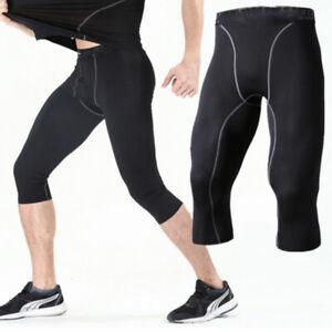 Men/'s Sports Apparel 3//4 Capri Legging Gym Compression Base Layer Workout Pants