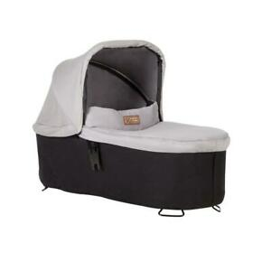 Mountain-Buggy-Swift-amp-MB-Mini-Carrycot-Plus-Silver-Suitable-For-Newborns