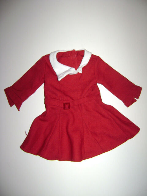 american girl doll kit red dress christmas dress outfit holiday white retired - Girls Red Christmas Dress