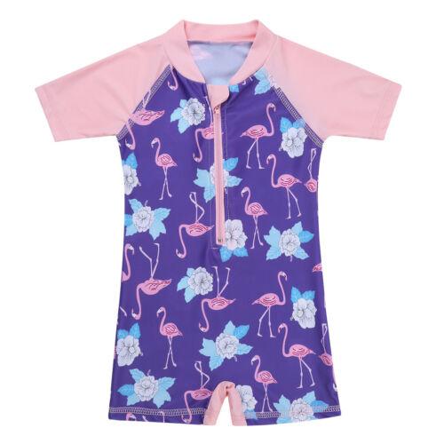 Infant Baby Girls Rash Guard Swimsuit Swimwear Bathing Suit One-piece Bikini UV