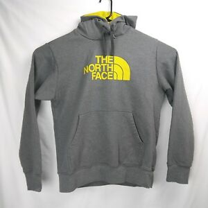 be19028c0 Details about THE NORTH FACE Logo Pullover Hoodie Sweatshirt Gray Yellow  Men's Size Medium