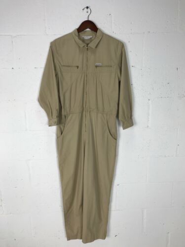 Vintage Saint Germain Womens Jumpsuit Tan Brown 4
