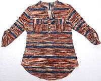 - Womens Blouse Shirt Top Tunic = Directions = Small - Ab24