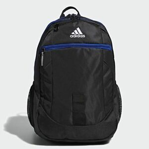 9756db02c94d Image is loading adidas-Foundation-IV-Backpack-Black-Royal-Blue-5145466