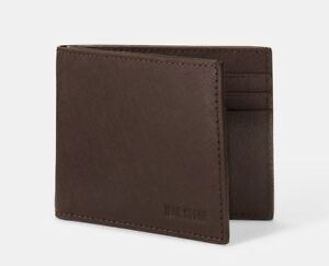 NWT-Jack-Spade-Slim-Billfold-Wallet-Barrow-Leather-Brown-128
