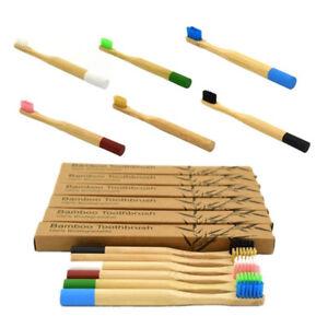 PT-Cn-Bambu-Naturale-Maniglia-Rotonda-Morbide-Setole-Nylon-Spazzolino-Igie
