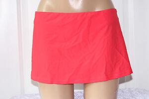 NEW-Island-Escape-Coral-Solid-Skirtini-Hipster-Swim-Skirt-Bikini-Bottom-10