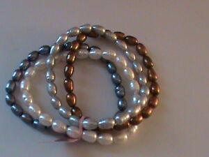 Multi-Color-Freshwater-Pearl-Set-of-4-Bracelets