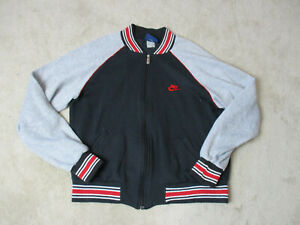 VINTAGE-Nike-Sweater-Adult-Large-Black-Gray-Swoosh-Spell-Out-Blue-Tag-Mens-80s
