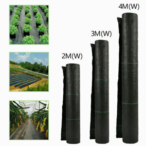 1,2,3,4m Wide Heavy Duty Garden Weed Control Fabric Ground Cover Membrane Sheet