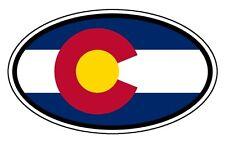 "Colorado State Flag Car Hood Bumper Sticker Decal Oval 3"""