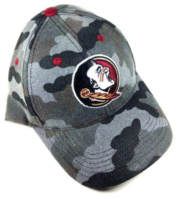 meet e9b3e d3b12 ... promo code for hot warrior florida state university fsu seminoles grey  logo camo hat cap adjustable