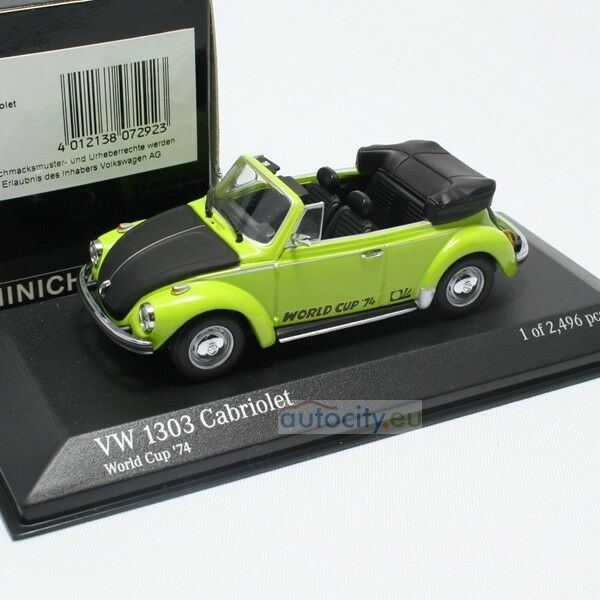 MINICHAMPS VW 1303 CABRIOLET 'WORLD CUP '74' 430055141