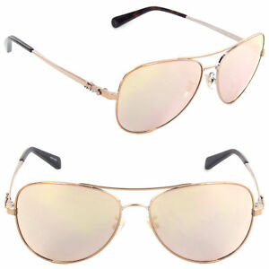 94d8db507 Image is loading Coach-HC7074-9309R5-59mm-Pilot-Sunglasses-Rose-Gold-