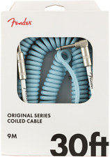 Fender Original Series Coiled Cable 30ft 9m Daphne Blue