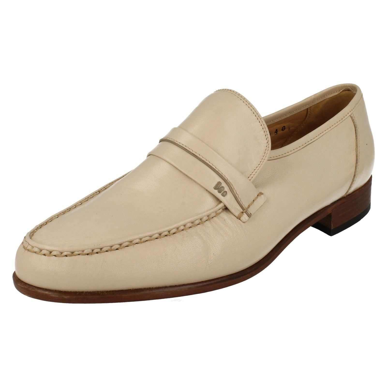 Hommes Ivoire Cuir Feathermaster By Grenson Chaussures Habillées à Enfiler