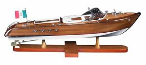 "Adaptable Riva Aquarama Exclusive Edition Speed Boat 25.2"" Wooden Model Ship Assembled Transportation"