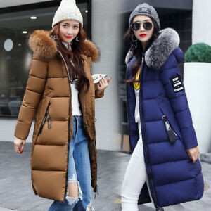 New Women S Winter Slim Hooded Long Padded Jacket Cotton Jacket Coat