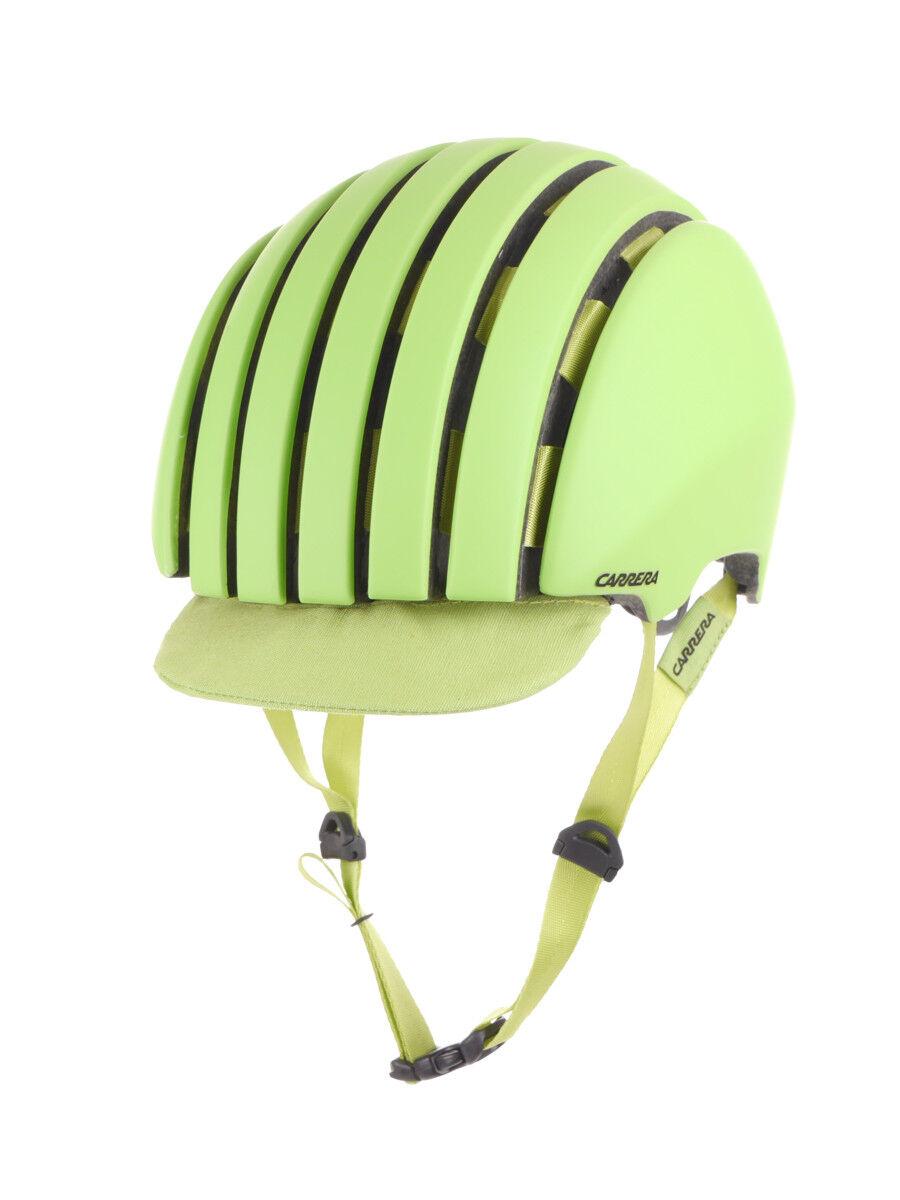Carrera Bike Helmet Helmet Safety Helmet Green Foldable Crit Visor Stretchable