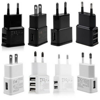 5V 2A 1/2/3-Port USB Wall Adapter Charger US/EU Plug For Samsung S4 S5 S6 iPhone
