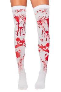 blood-Struempfe-Halterlose-Halloween-Kostuem-Socken-Party-Zombie-Krankenschwester