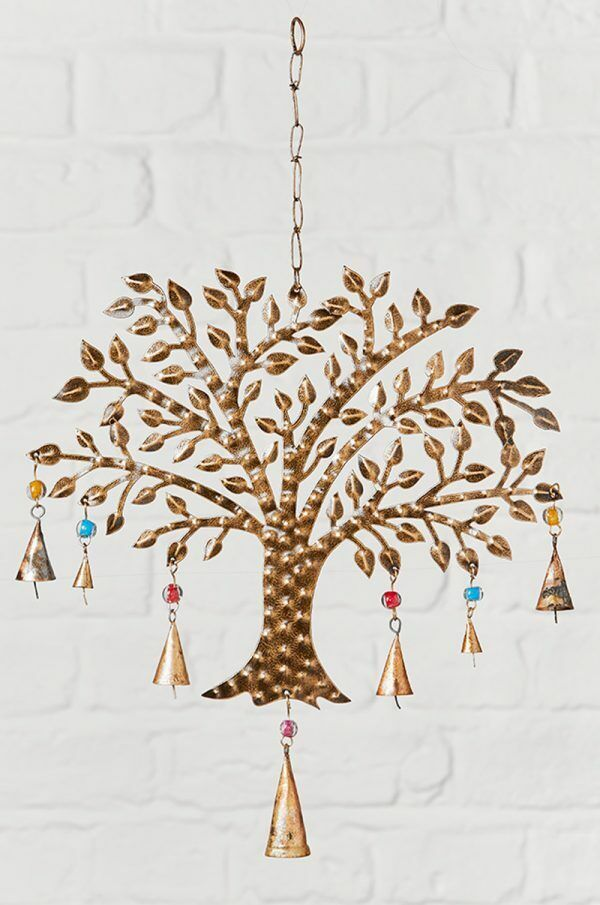 Recycled Metal Tree of Life Windchime Fair Trade
