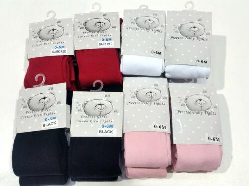 Les jeunes filles bébé riche en coton avec lycra full collants noir blanc rose rouge 0-24m