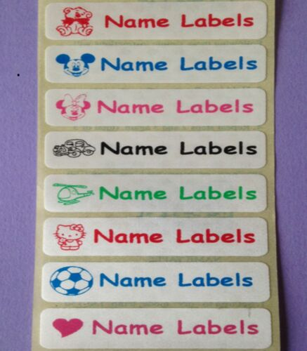 50 cousez en fer sur l/'identité finition satinée vêtements nom bandes étiquettes étiquettes 46x12mm